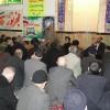 حضور پدر شهید احمدی روشن در جمع نمازگزاران مسجد امام جعفر صادق (ع) بهشهر