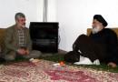 حضور پدر شهید مصطفی احمدی روشن در بیت حضرت آیت الله جباری