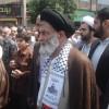 حضور حضرت آیت الله جباری در راهپیمایی روز قدس بهشهر