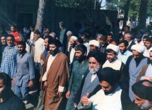 آیت الله جباری در مراسم تشییع جنازه شهدا