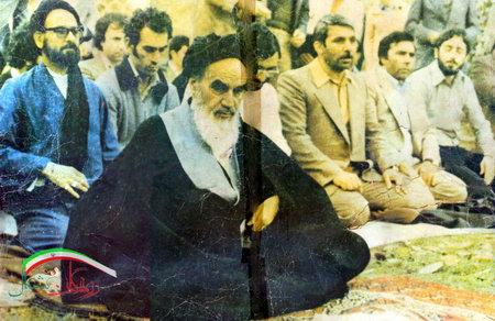 شهید ابوعمار ، شهید حبیب الله افتخاریان در کنار امام خمینی (ره)