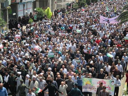 راهپیمایی روز قدس بهشهر 1394