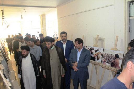 نمایشگاه عکس یادیار حضرت آیت الله جباری (ره) در بهشهر بمناسبت اولین سالگرد رحلت