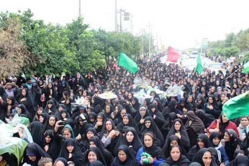 عکس استقبال شهدای غواص بهشهر تشییع شهدا خط شکن