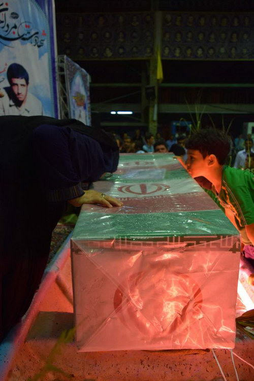 عکس و تصاویر وداع با شهدا غواص و خط شکن بهشهر