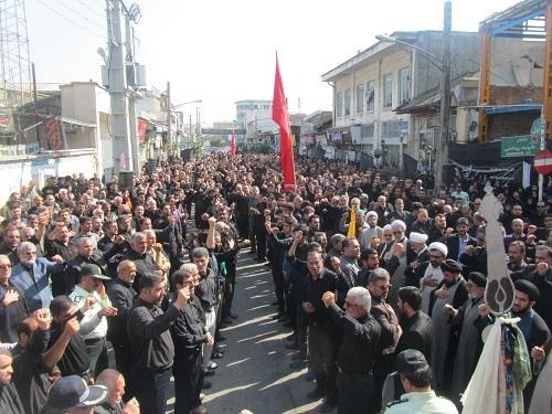 تجمع بزرگ عزاداران حسینی بهشهر تاسوعا محرم 94