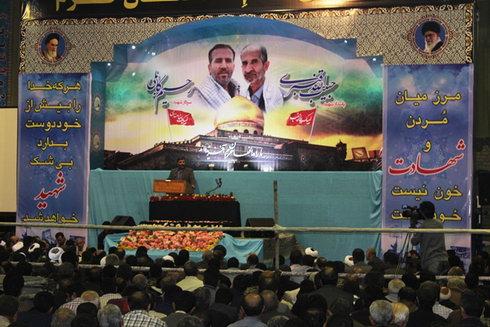 شب وداع با شهید مدافع حرم شهید حبیب الله قنبری در بهشهر