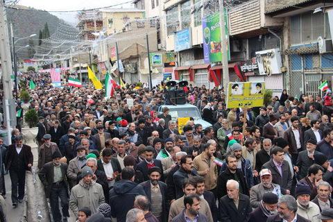 بهشهری ها راهپیمایی 22 بهمن بهشهر 1395